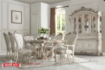 Set Meja Makan Mewah Putih Duco Luxury Dining Room Antique